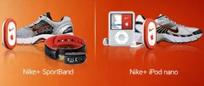 Nike + Sportband    Nike + iPod nano